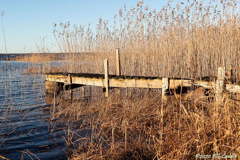 En brygga i Vänern