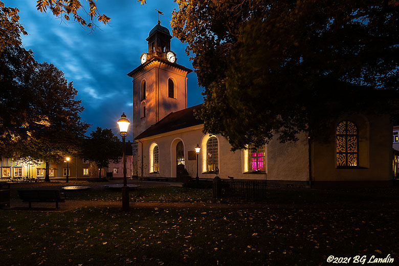 Christinae kyrka under Lights 2021