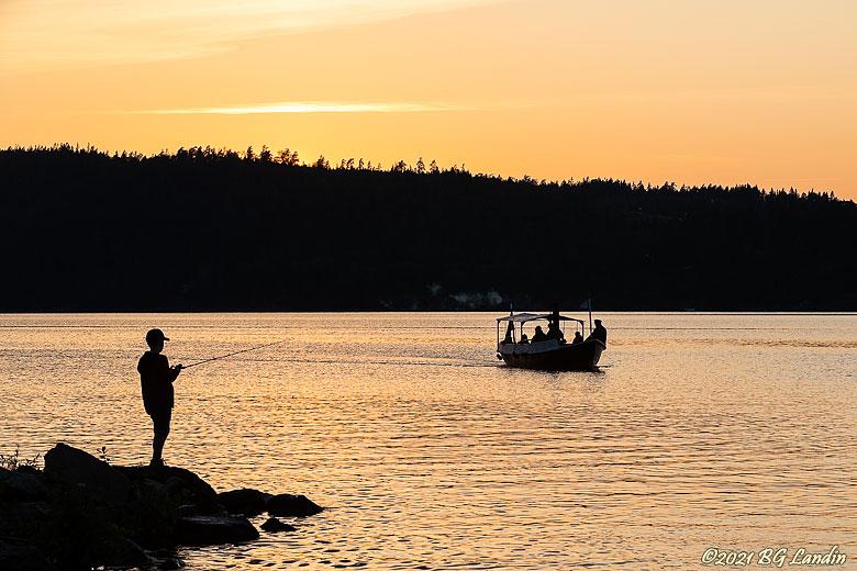 David och kvällsfiskare