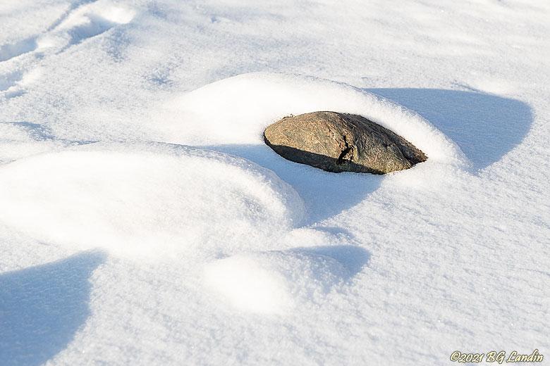 En sten tittar fram