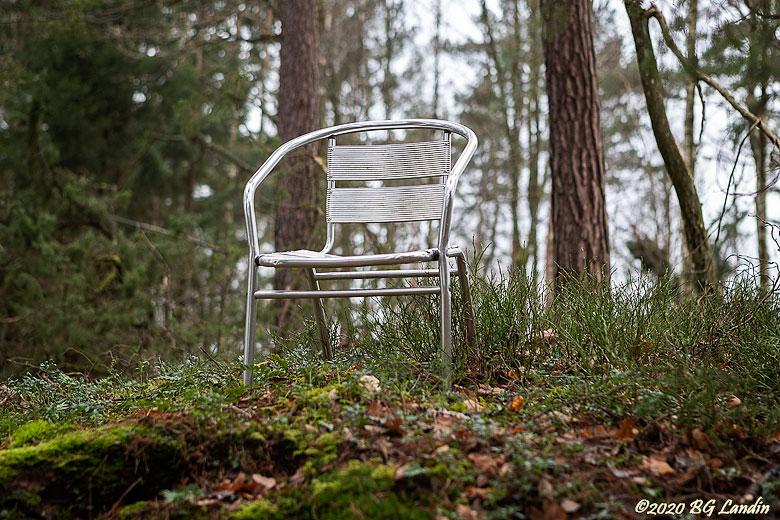 En stol i skogen