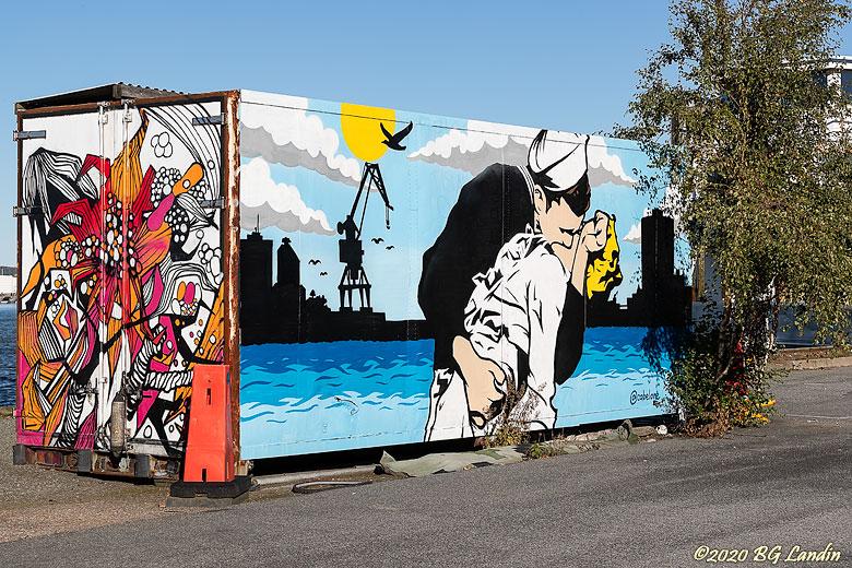 Graffitikonst vid Drömmarnas kaj