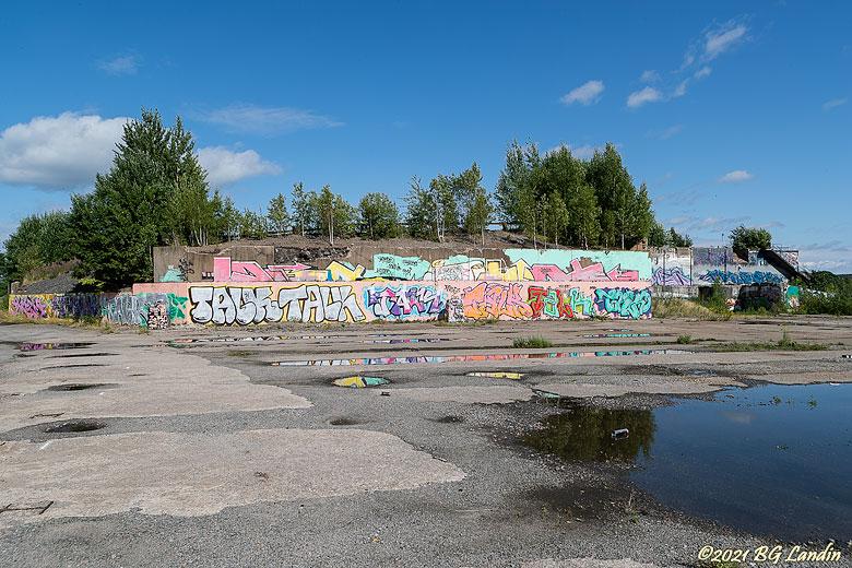 Graffiti på pappersbruk