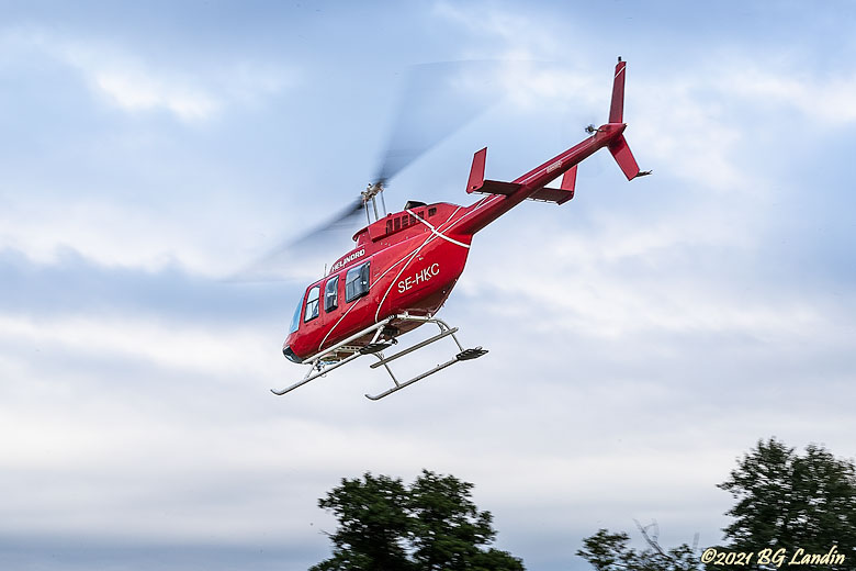 Heli in the air