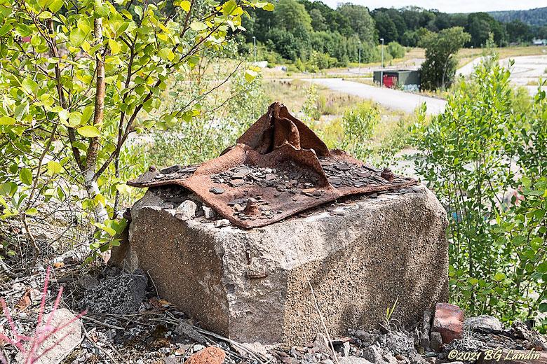 Järnskrot på betongruin