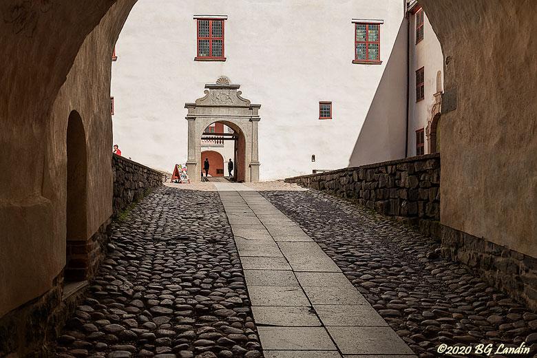 Kullerstenar på Läckö Slott