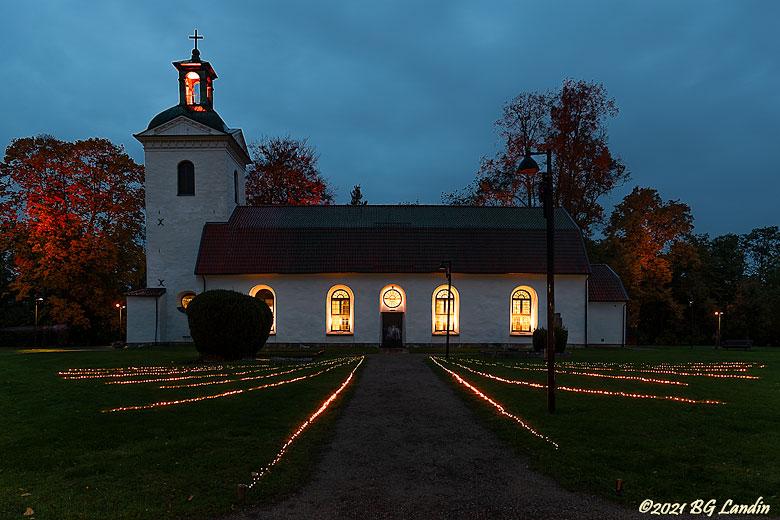 Landskyrkan under Lights 2021