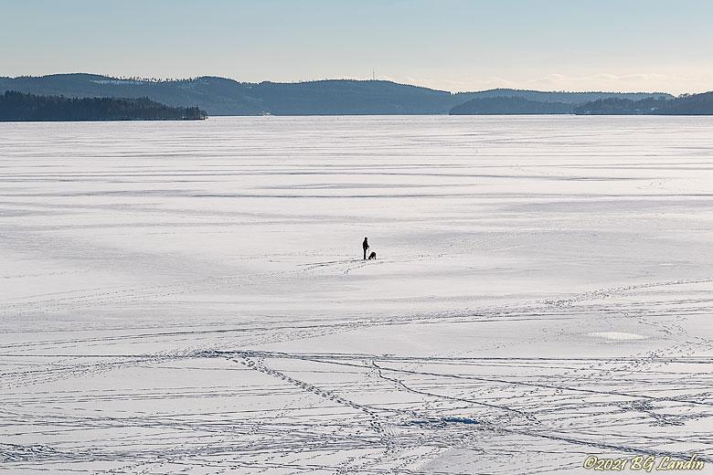 Promenad på Antens is