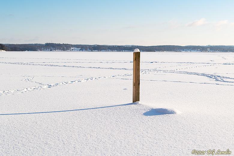 Snölandskap på Anten
