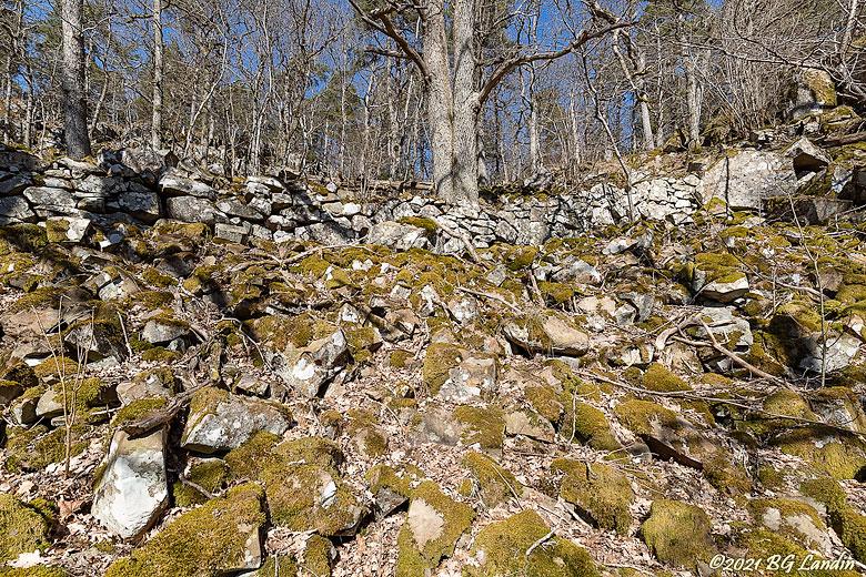 Stenmur i Hunnebergsbrant