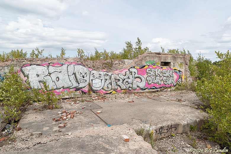 Väggmålning i betongruin