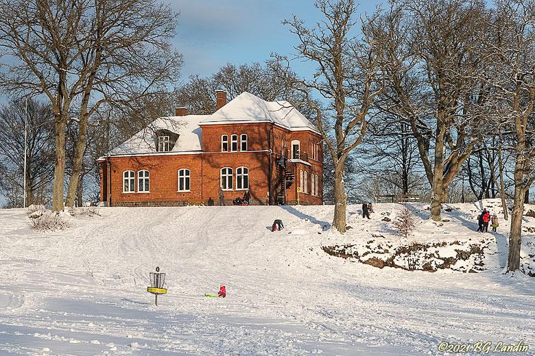 Villa Hehrne en vacker vinterdag