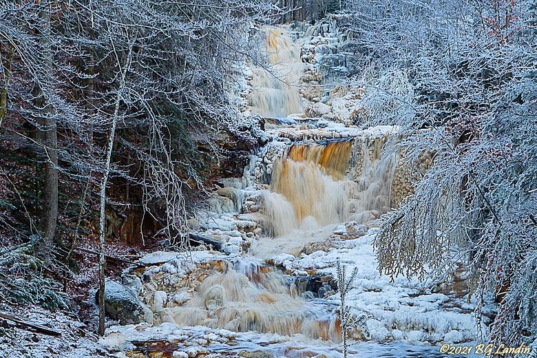 Vinter vid Byklevsfallet