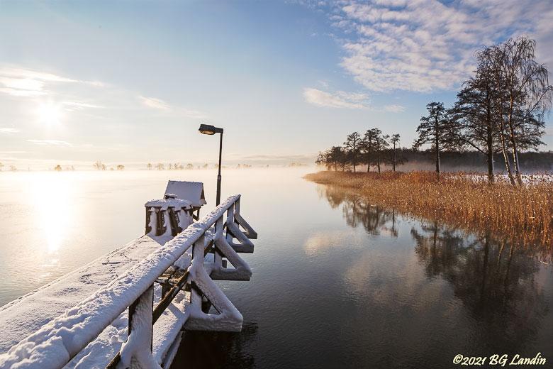 Vinter vid Göta Älv