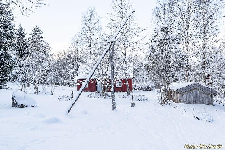 Vinter i Herrljunga hembygdspark