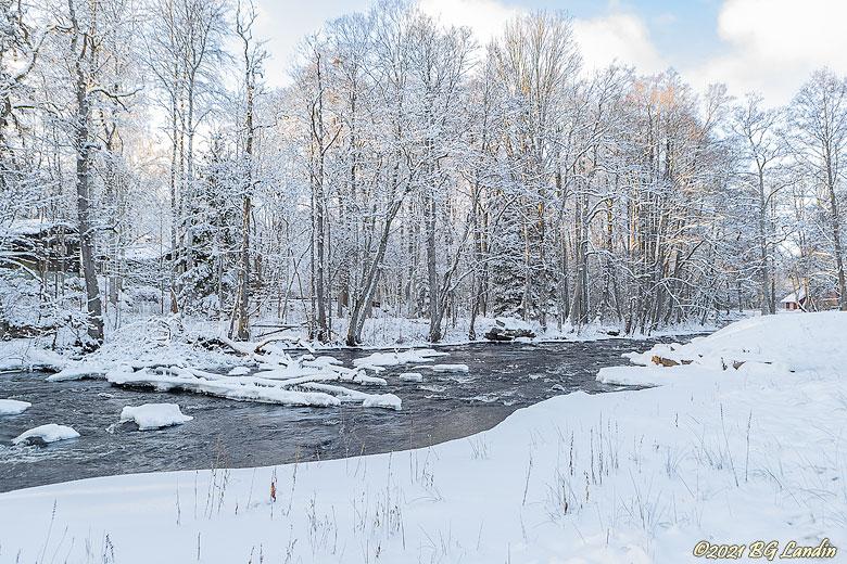 Vinteridyll vid Nossan