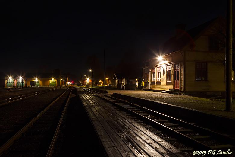 Tomt och mörkt stationsområde