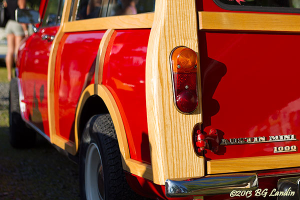 Trädetaljer på Austin Mini 1000 Mk II