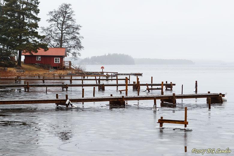 Bryggor i Bergsjödalsviken
