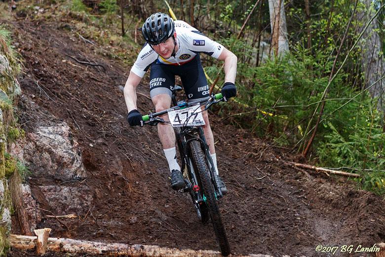 Fokuserad cyklist