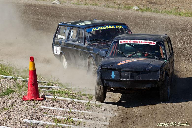 Två Volvo i närkamp