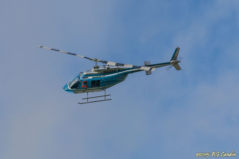 Helikopter i det blå