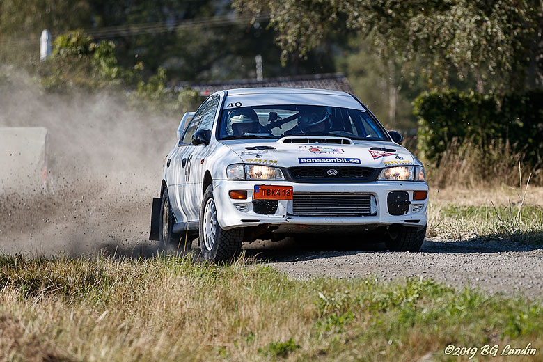 Subaru Impreza i Strömkarlsrallyt