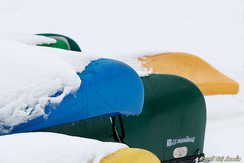 Kanoter i vintervila