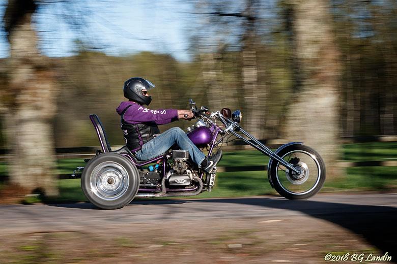 Lila trehjuling