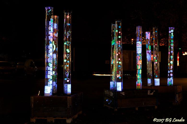 Ljusskulpturer i Åmanska parken