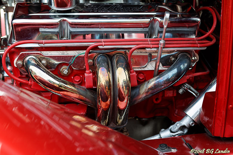 Motorrum i rött