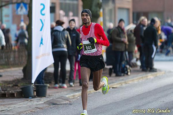 Musael Temesge vinner Sylvesterloppet 2013