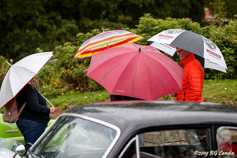 Paraplyer vid veteranträffen