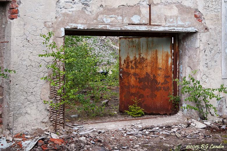 Rostig dörr