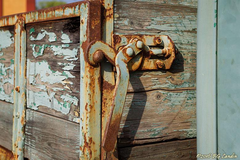 Lastbilsflak med patina