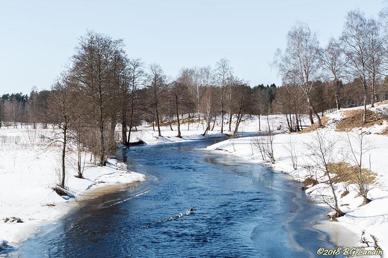 Vinterlandskap med Säveån