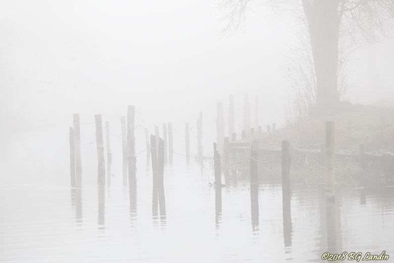 Säveån i dimma