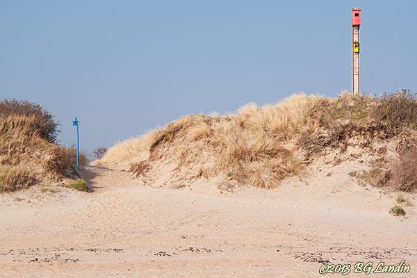 Snart befolkad sandstrand