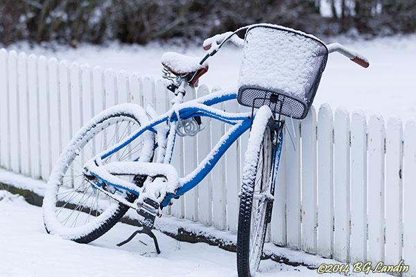 Snövit cykel