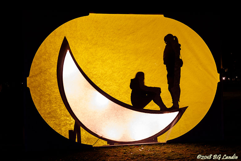 Stå och sitt på månen