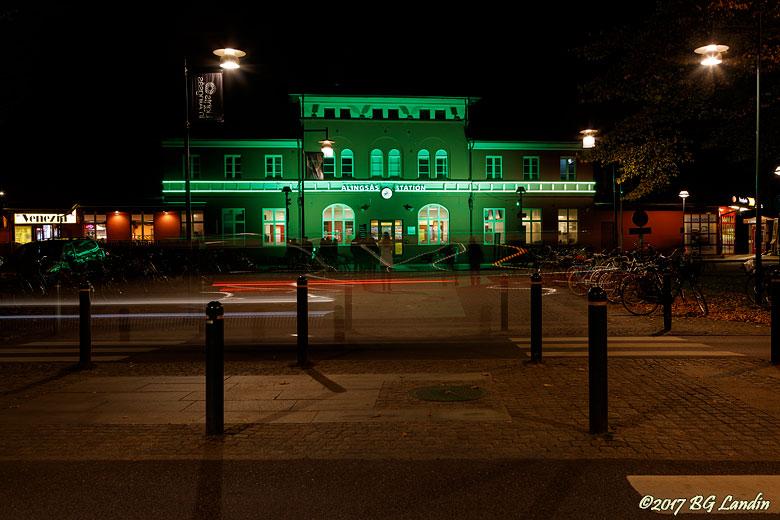 Station i grönt
