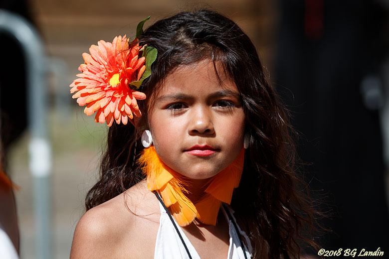 Ung skönhet i Hammarkullenkarnevalen 2018