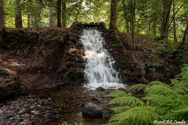 Vattenfall i slottsmiljö