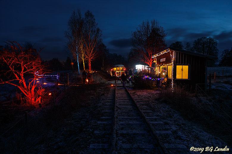 En vinterkväll i Tomtebo