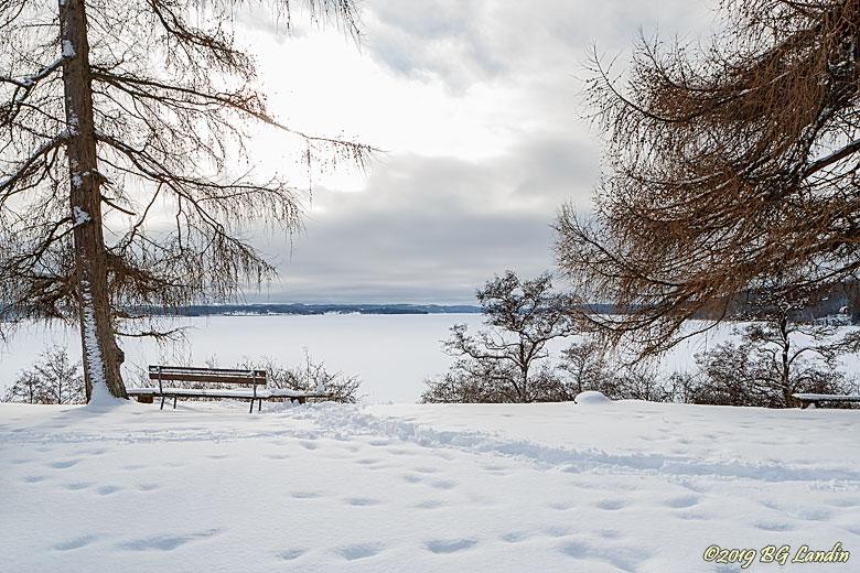 Vintervy från Gräfsnäs slottspark