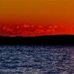 Solnedgång över Mjörn