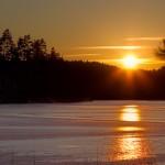 Solnedgång vid Bäsjön