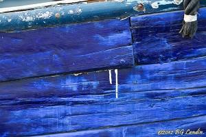 Makalös blå bordläggning