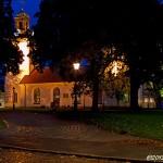 Christinakyrkan i kvällsbelysning
