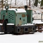 Snödekorerad järnhäst